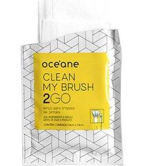 lenços para limpeza de pincel océane - clean my brush 2 go 6 un