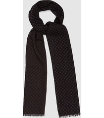 reiss daniel - wool pailsey patterned scarf in navy, mens