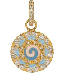 small blue and white swirl pendant