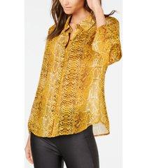 inc snake-embossed shirt, created for macy's