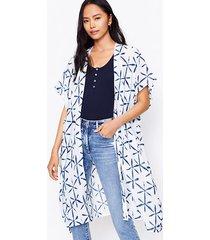 loft star tie dye kimono
