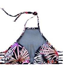 bikini sostén con transparencia estampado samia