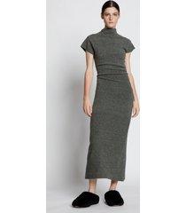 proenza schouler wool knit twisted dress grey melange m