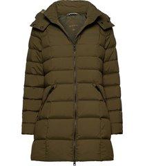 d2. classic down long jacket gevoerd jack groen gant