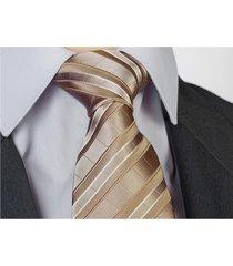 jedwab 100% krawat jedwabny złoty beżowy