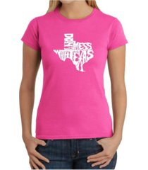 women's word art t-shirt - don't mess with texas