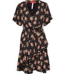 danica blossomy jurk knielengte zwart whyred
