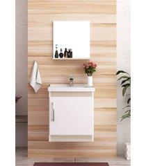 conjunto para banheiro economica branco/taeda bosi - branco - dafiti