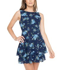 b darlin juniors' floral-print tiered dress