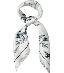 allsaints somnium silk bandana, size one size - white