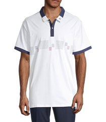 original penguin men's colorblock graphic polo - bright white - size xxl