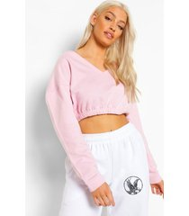 korte sweater met v-hals, pink