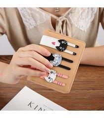 billetera mujeres- monedero de cuero de la pu de las-rosa