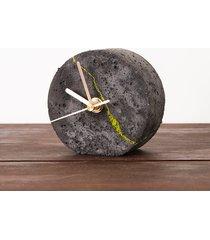 okrągły zegar stołowy- ciemny