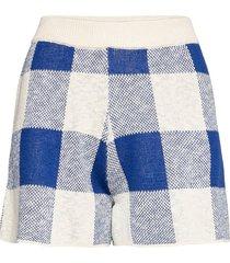 gingham knitted short shorts flowy shorts/casual shorts blå bobo choses