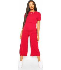 positie-broekrok-jumpsuit om borstvoeding te geven, berry