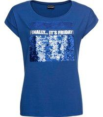 maglia con paillettes reversibili (blu) - bodyflirt