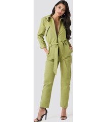 na-kd utility jumpsuit - green