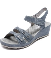 sandalia azul begoña