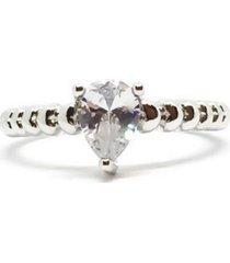 anel brenda gota cristal di capri semi jóias x ouro branco incolor