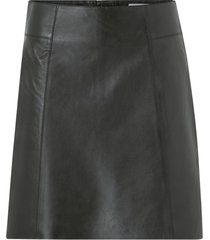 skinnkjol slfibi leather skirt