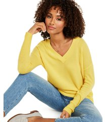 charter club cashmere oversized v-neck sweater, created for macy's