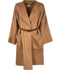 belted loose fit coat