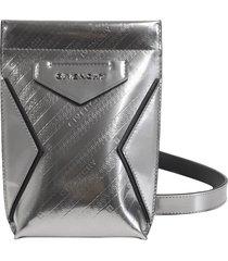 givenchy silver antigona s phone pouch