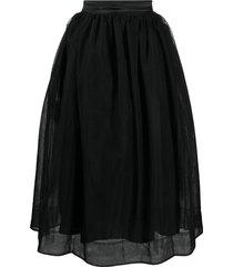 simone rocha overlay voluminous skirt - black