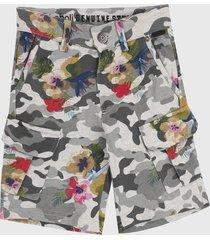 bermuda gris-multicolor boboli