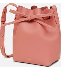 mansur gavriel women's mini mini bucket bag - blush