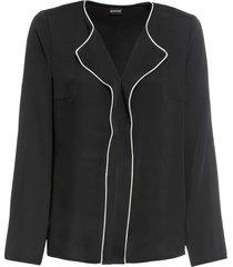 camicia con bordi a contrasto (nero) - bodyflirt
