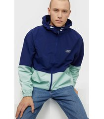 levis marina windbreaker blueprint jackor blue
