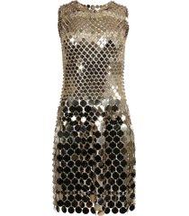 gold-tone sequin dress