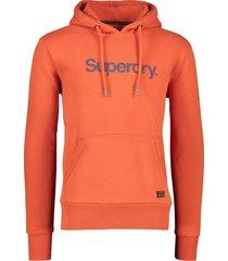 oranje sweater heren superdry canvas