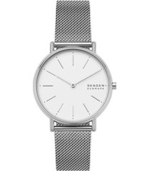 skagen women's signatur stainless steel mesh bracelet watch 38mm