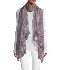 lace trim scarf