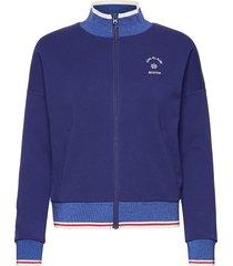 sporty jacket in sweat quality sweat-shirt tröja blå scotch & soda
