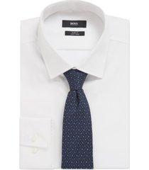 boss men's silk micro-pattern tie