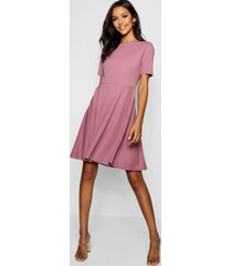 tall short sleeve skater dress, mauve