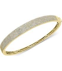 effy diamond pave bangle bracelet (1-7/8 ct. t.w.) in 14k gold