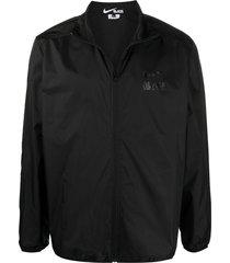 black comme des garçons logo-print long-sleeved jacket