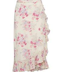 semi couture wrap skirt knälång kjol rosa by ti mo