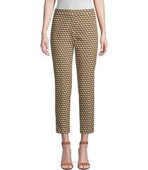 marcia cubist stretch-jacquard pants