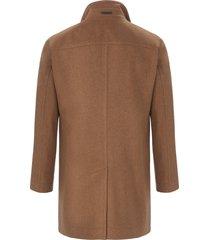 lange jas met staande kraag van bugatti bruin