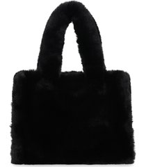 stand studio liz faux fur mini-tote