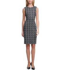 calvin klein patterned sheath dress