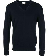 ballantyne v-neck knitted sweatshirt - blue