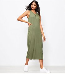 loft lou & grey ribbed henley maxi dress