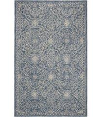 lauren ralph lauren etienne lrl6603m blue and ivory 5' x 8' area rug